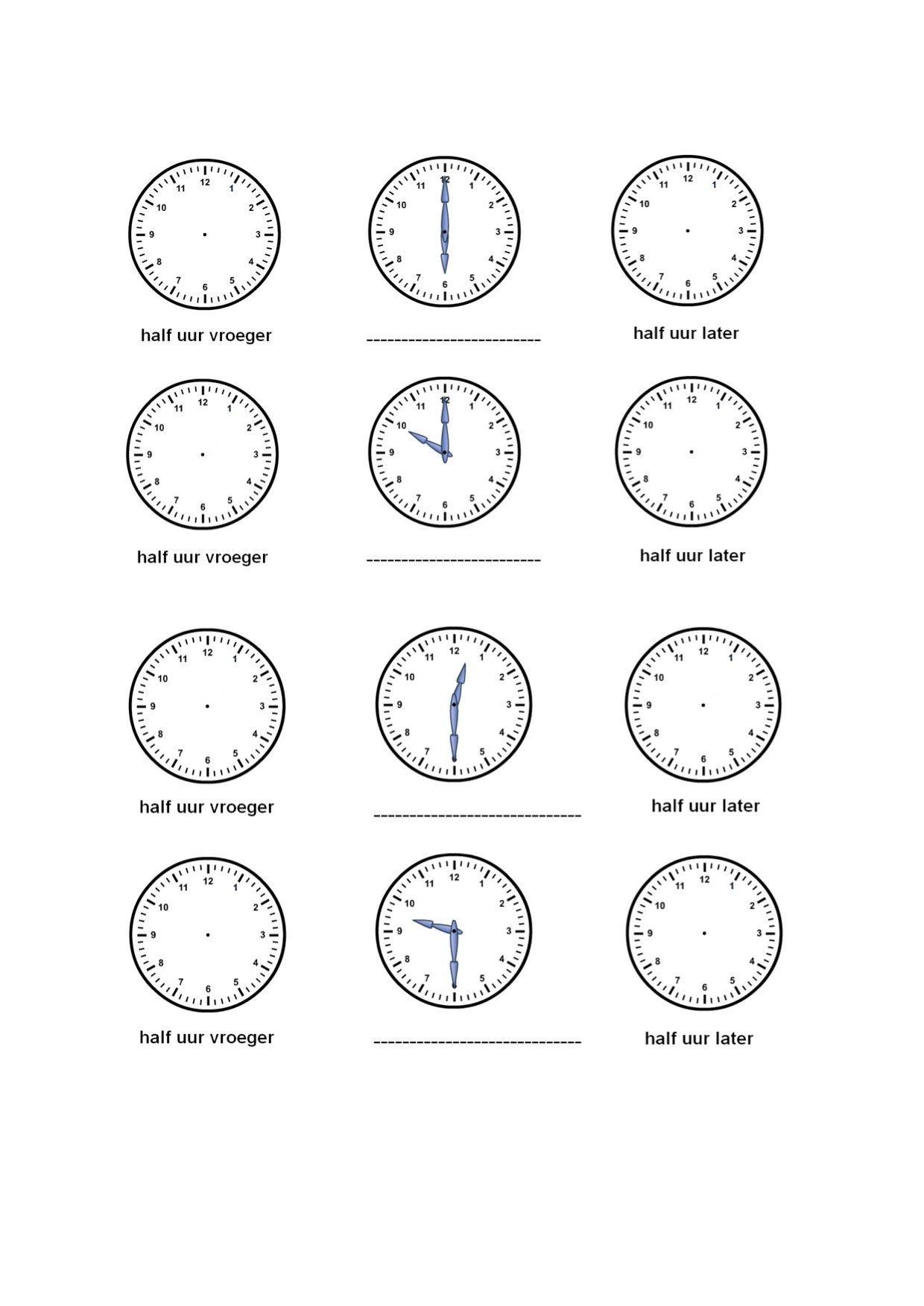 Oefenen Met Klokkijken