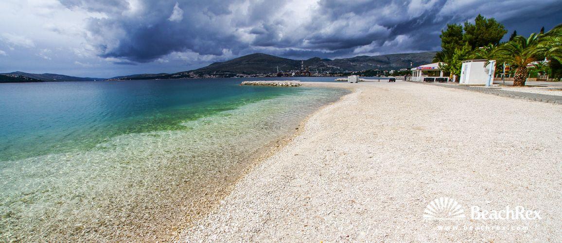 Beach Copa Cabana Okrug Gornji Island Ciovo Dalmatia Split Croatia Beach Tourist Croatia