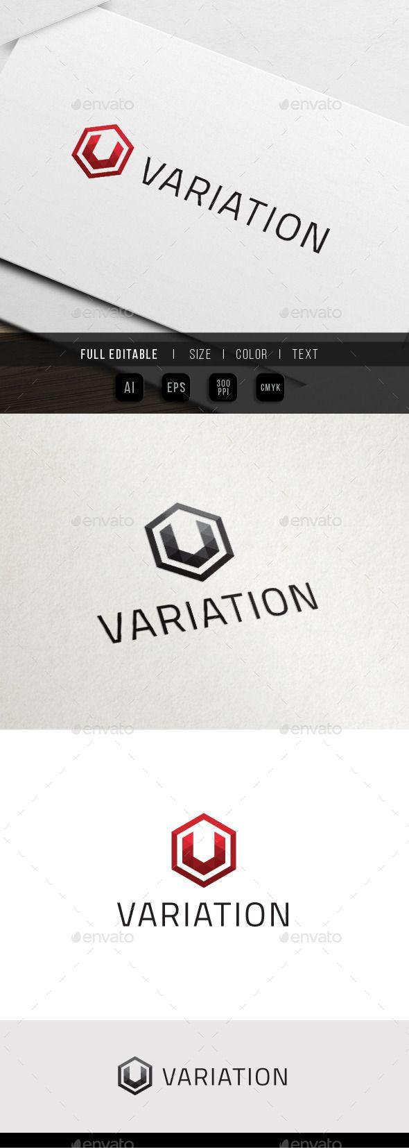 Hexa Variation Triangle Pixel V - Logo Design Template Vector #logotype Download…