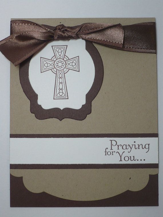 PRAYING on CHOCOLATE handmade Stampin Up Praying by MadmBlueberry, $2.00