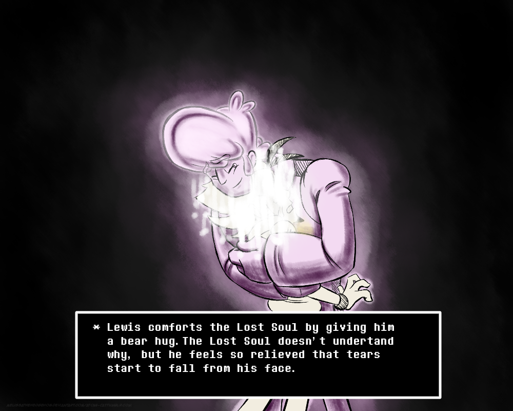 """20 Lewis Meets Flowey - Alternate Encounter Part 1/ Part 2/ Part 3 – Strangely, as Lewis remembered his friends, something else began resonating within the SOUL, stronger and stronger. """"There's…there's..."""