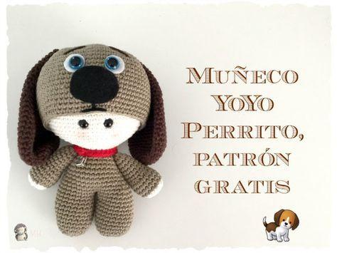 Perrito yoyo amigurumi | Patrones | Pinterest | Patrones amigurumi ...
