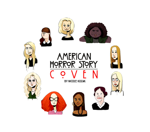 American Horror Story Coven American Horror Story Coven American Horror American Horror Story Art