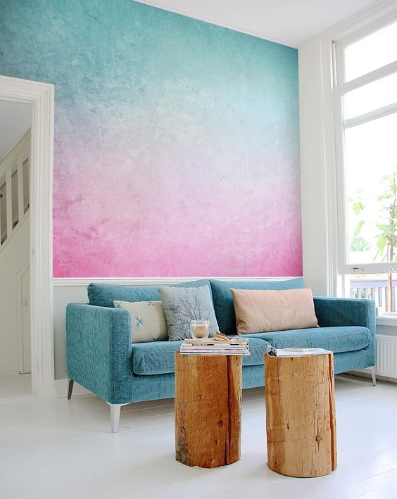 Interior Design Ideas, Redecorating & Remodeling Photos | Blue ombre ...