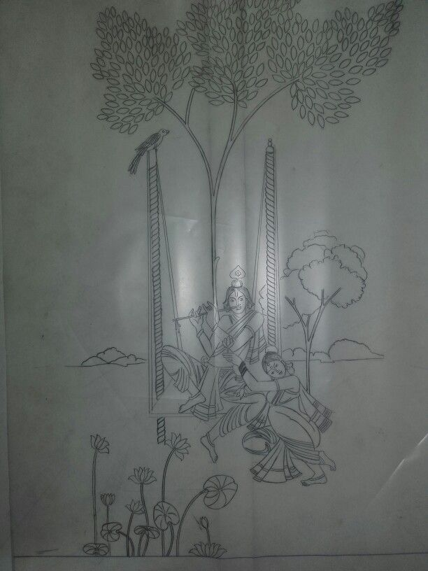Pencil sketching · fabric painting · different type of traditional work for lahenga