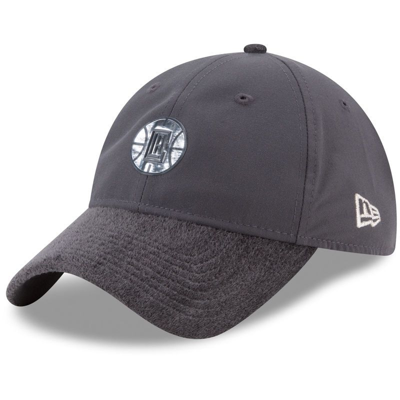 check out c55a4 0484d LA Clippers New Era On-Court Silver Logo 9TWENTY Adjustable Hat - Graphite