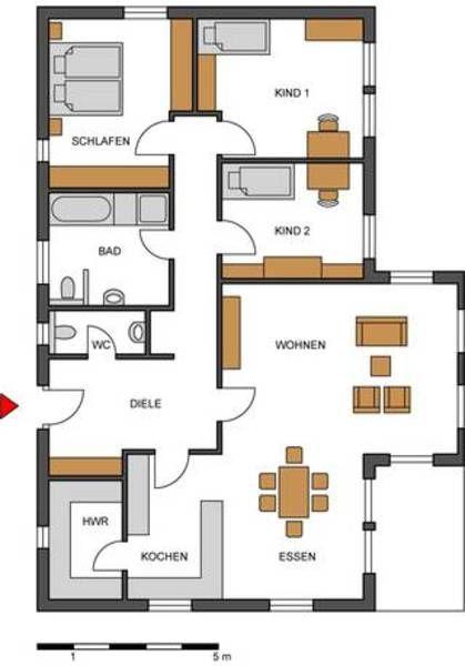 bungalow127 eg haus pinterest grundriss bungalow bungalow und haus. Black Bedroom Furniture Sets. Home Design Ideas