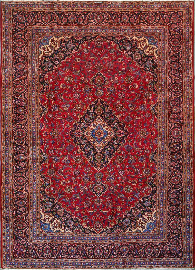 "Buy Kashan Persian Rug 9' 8"" x 13' 5"", Authentic Kashan"