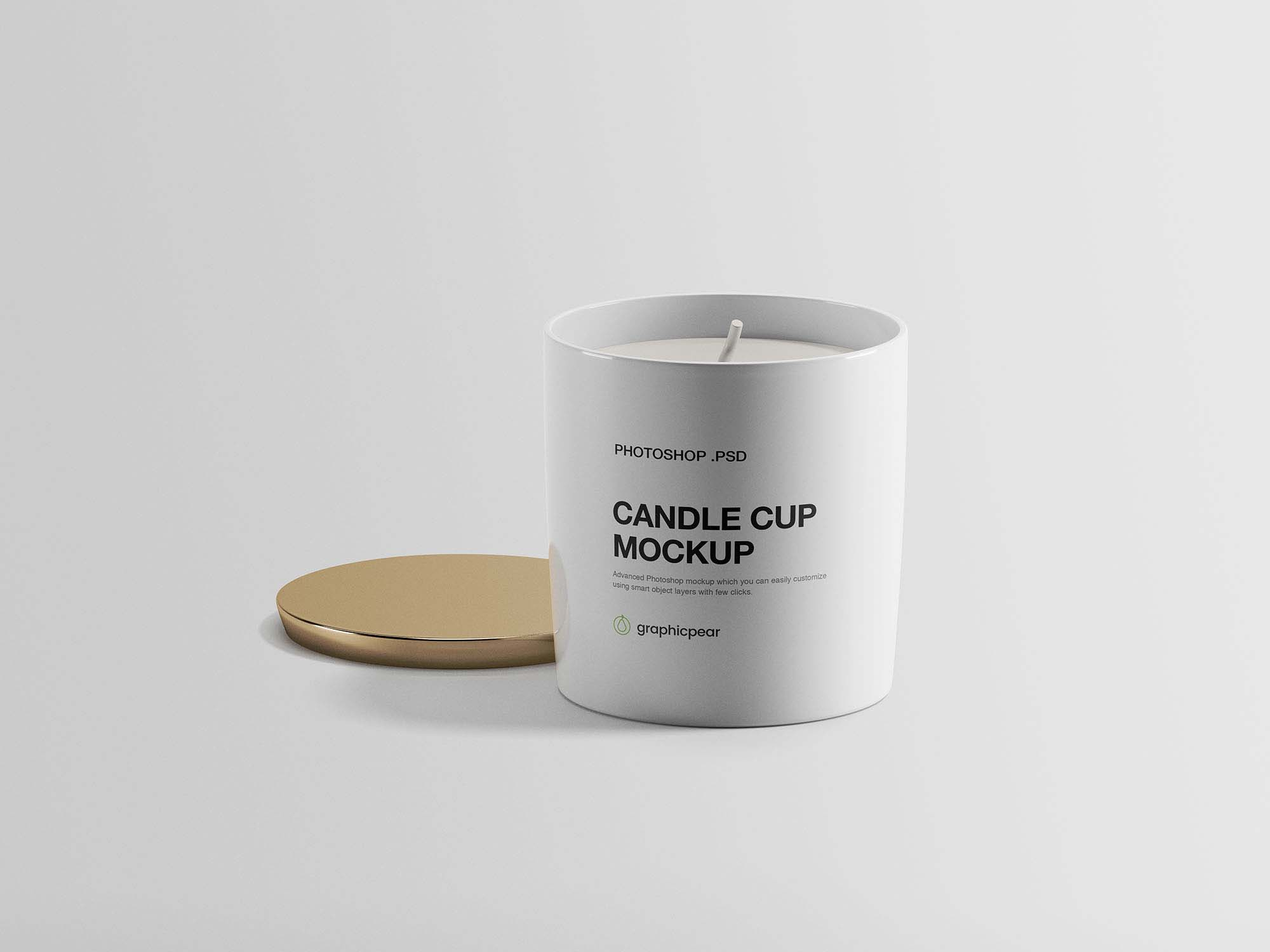 Free Candle Cup Mockup Psd Candle Mockup Free Candles Candle Cup