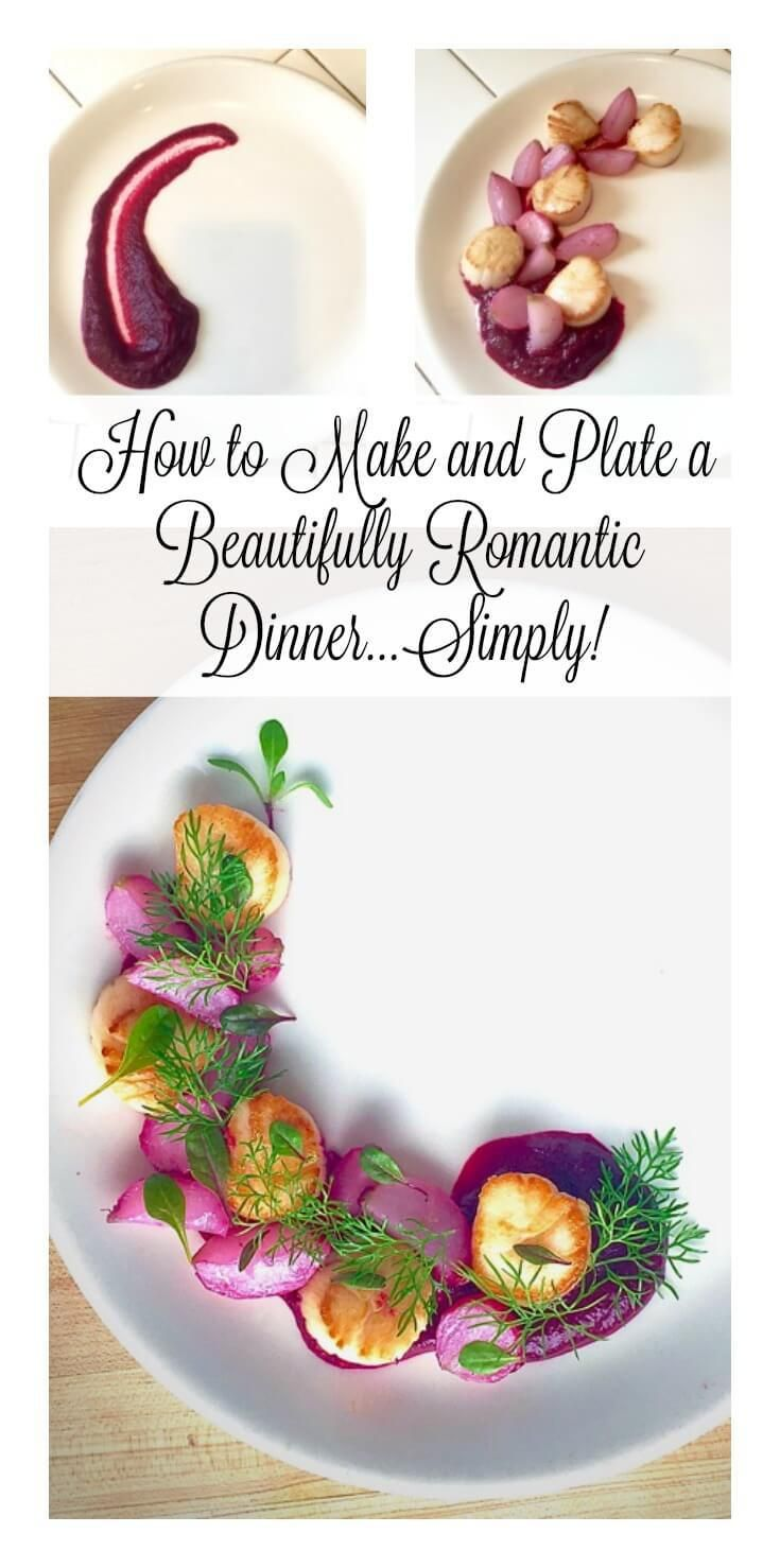 Romantic seared scallops with beets and butter braised radishes a beautifully romantic scallop dinner thats gluten forumfinder Image collections