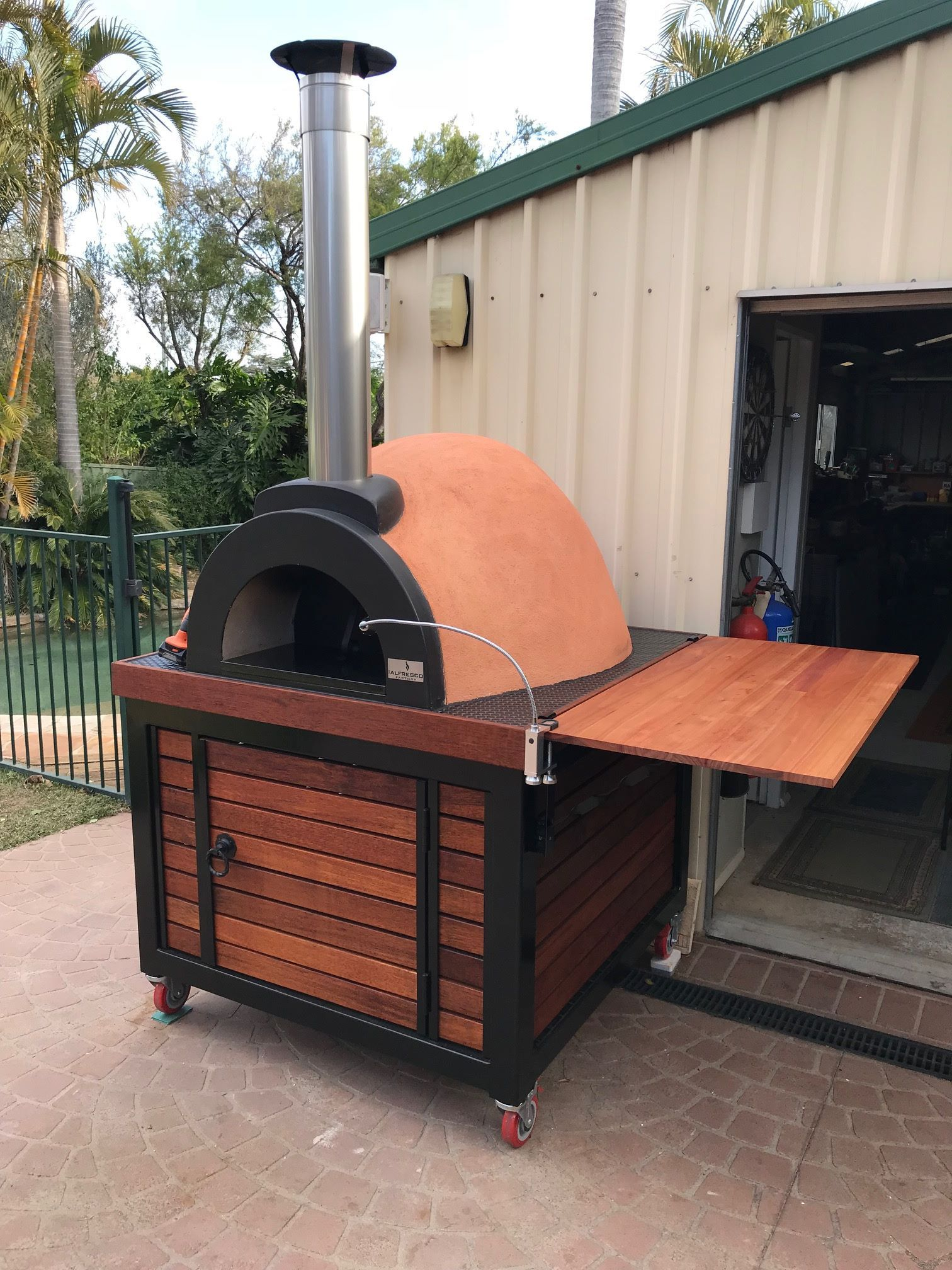 The Alfresco Factory Ovens Can Be Custom Made To Fit Your Needs