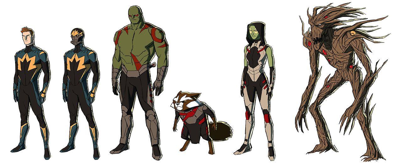 תוצאת תמונה עבור art guardians galaxy character design