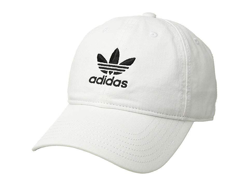 new arrival 7cda6 d6e19 adidas Originals Originals Relaxed Strapback Cap (White) Caps. Can t go  wrong