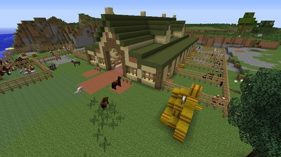 . Minecraft Horse Stable   Minecraft Builds   Minecraft horse