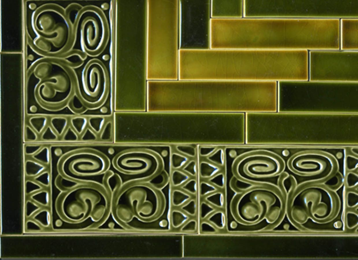 "Decorative Tile Borders Our ""arbored Leaves"" Decorative Tile Creates The Border For This"