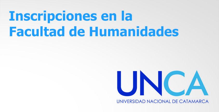 La Facultad de Humanidades comunica que las inscripciones se realizarán hasta el 20 de febrero. #UNCA #Catamarca #universidad