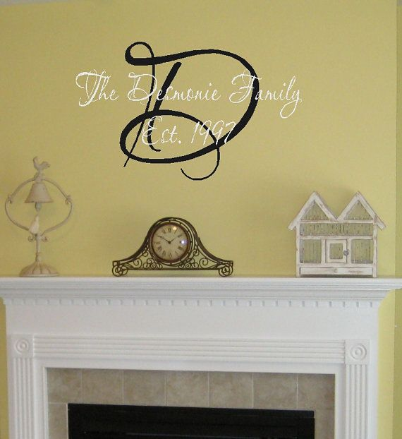 Family Name w/ EST Date Vinyl Wall Decal Decor by landbgraphics ...