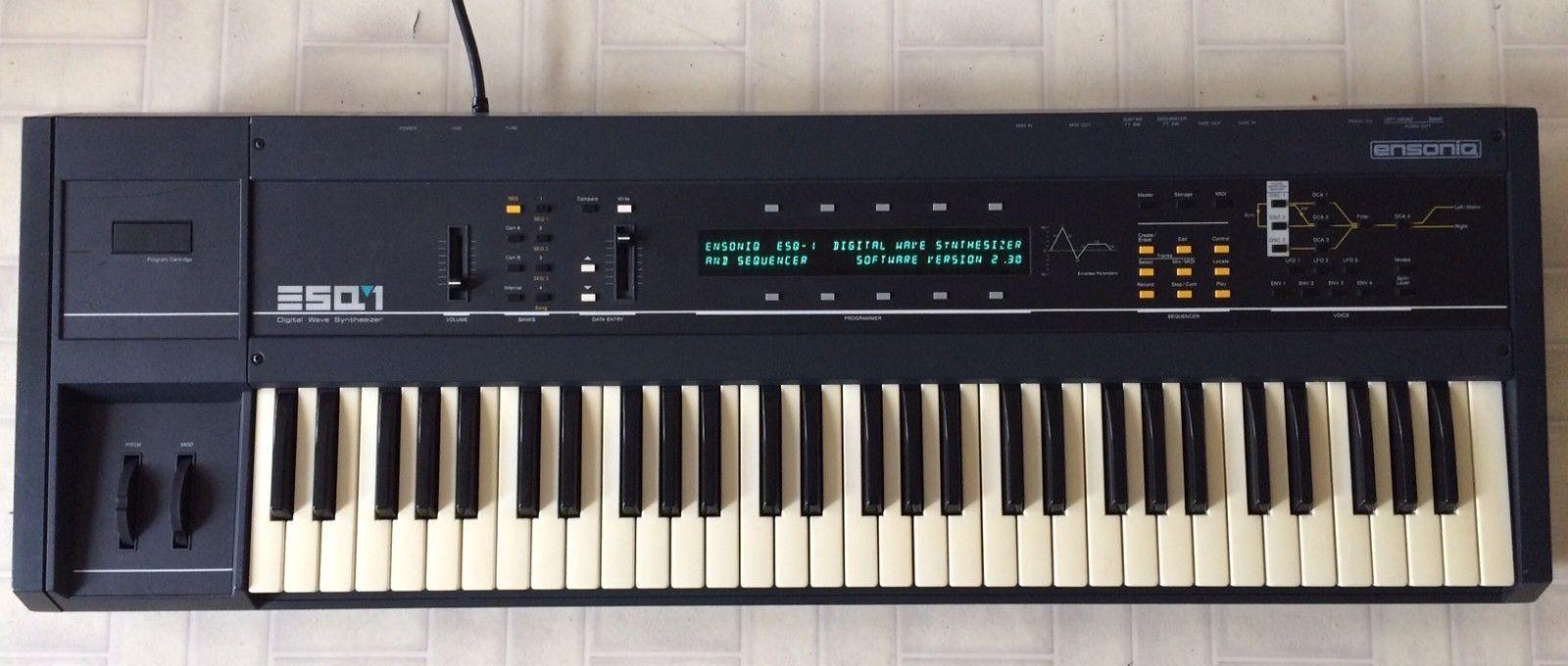 Ensoniq Esq 1 Vintage Synthesizer Working Good Condition Ebay Synthesizer Vintage Ebay