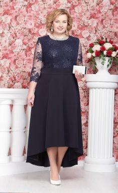 платье нинель 5490 синий Vestidos Elegantes Para Señoras