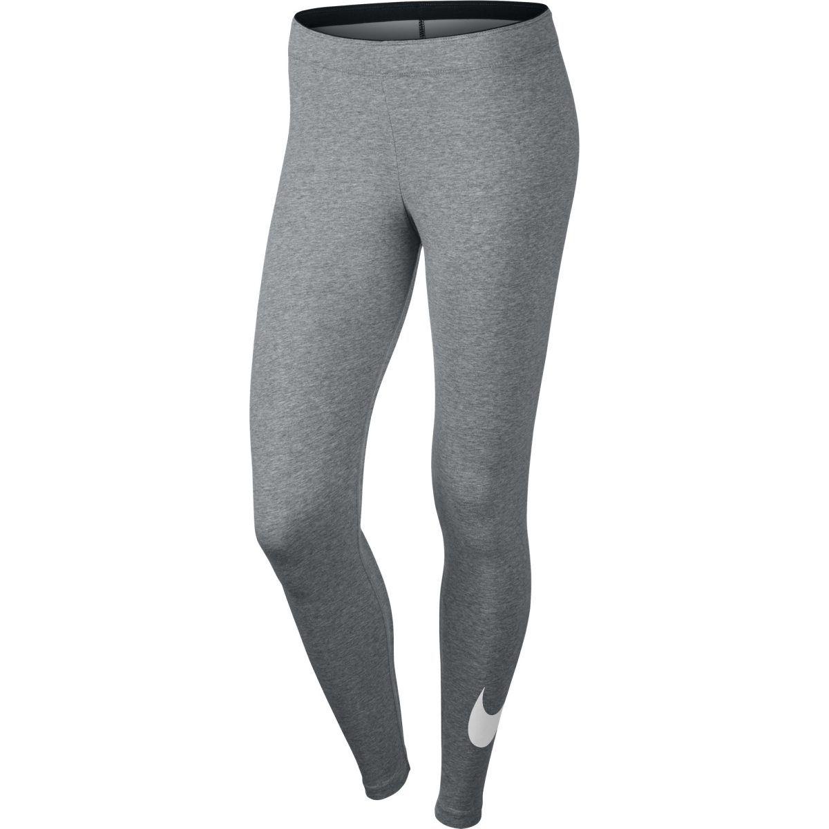 Harmaa Nike Club Legging Logo 2, naisten puuvillatrikoot - Naisten pitkät trikoot - xxl.fi