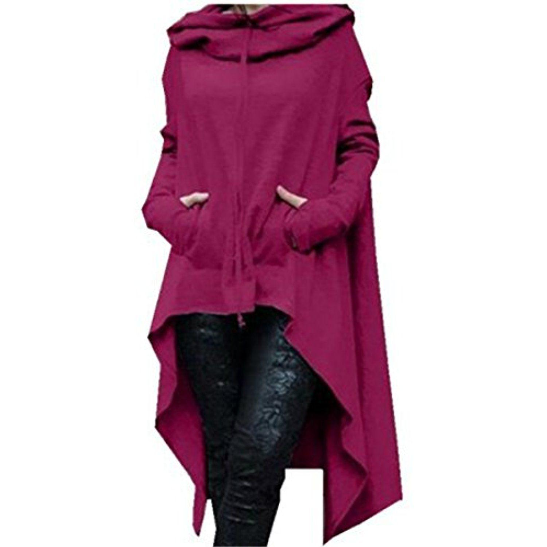 Womens Kangaroo Pockets Loose Hoodies Sweatshirts Outerwear Coat Dress * Read more at the image link. (This is an affiliate link) #FashionHoodiesSweatshirts