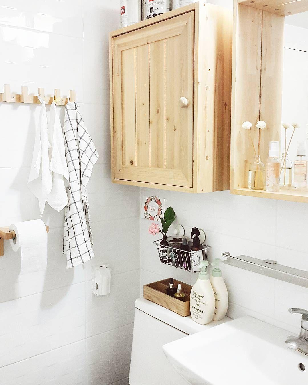 욕실 정리좀 . . #우리집 #우리집화장실 #화장실인테리어 #욕실인테리어 #이케아 #우드우드 #이케아패브릭 #interior #bathroominterior #bathroom #bathdecor #bathdesign #homeinterior by reun_reun