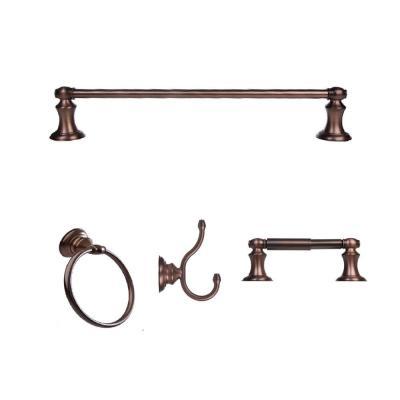 Arista Highlander Collection 4 Piece Bathroom Hardware Kit In Oil