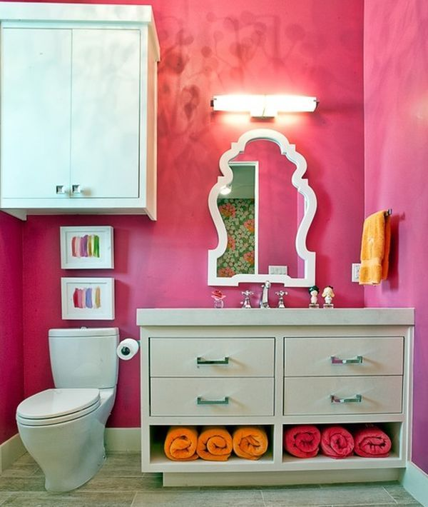 really cool bathrooms for girls. Fabulous Mirror And Fascinating Color Make This An Ideal Bathroom Space For Most Girls! Really Cool Bathrooms Girls I