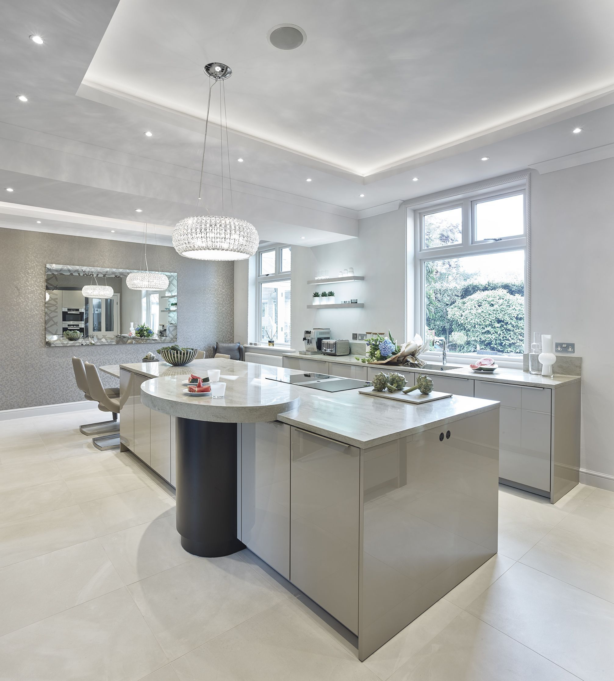 Kitchen Furniture Leeds: SieMatic Classic SC40 Kitchen In Agate Grey Gloss Finish
