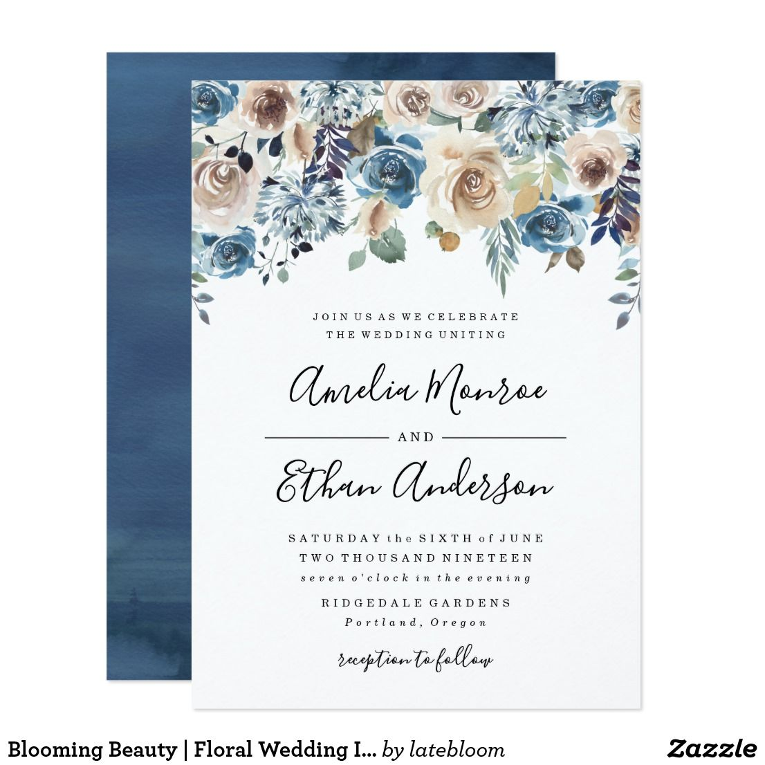 Blooming beauty floral wedding invitation awesome wedding
