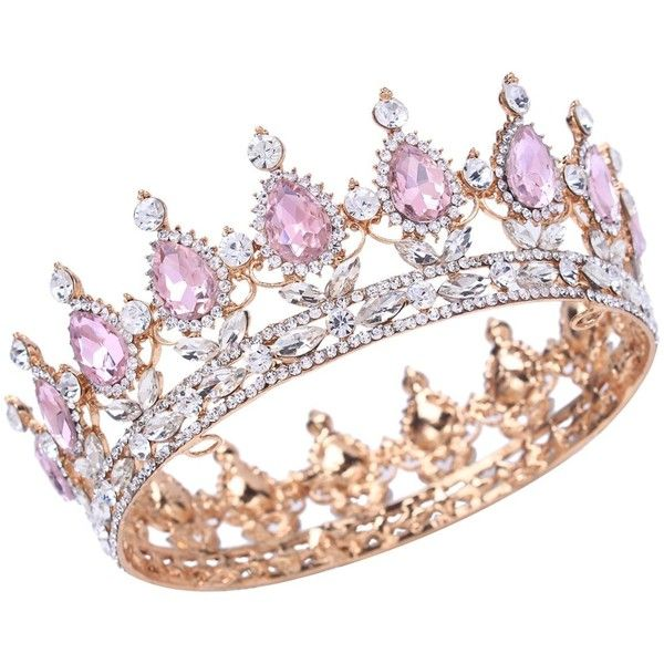 Stuff Crystal Crown Tiaras Prom Party Wedding Bridesmaid Hair Piece... ❤ liked on Polyvore featuring accessories, hair accessories, bobby hair pins, crown tiara, party tiaras, prom hair pins and prom crowns #crowntiara