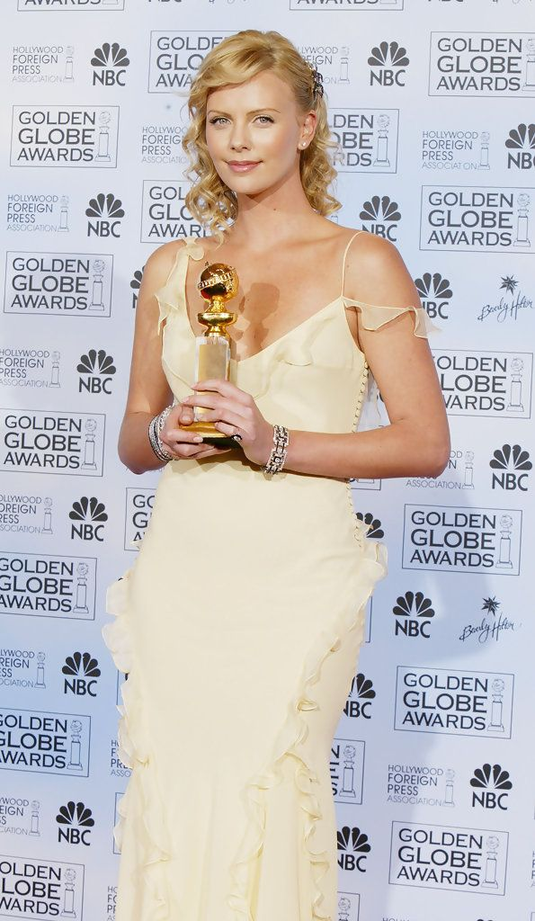 Charlize Theron in Christian Dior, Golden Globes 2004