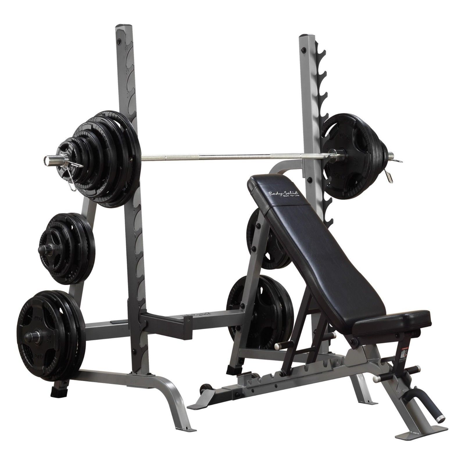 BodySolid Squat Rack & Bench Press with Adjustable Bench