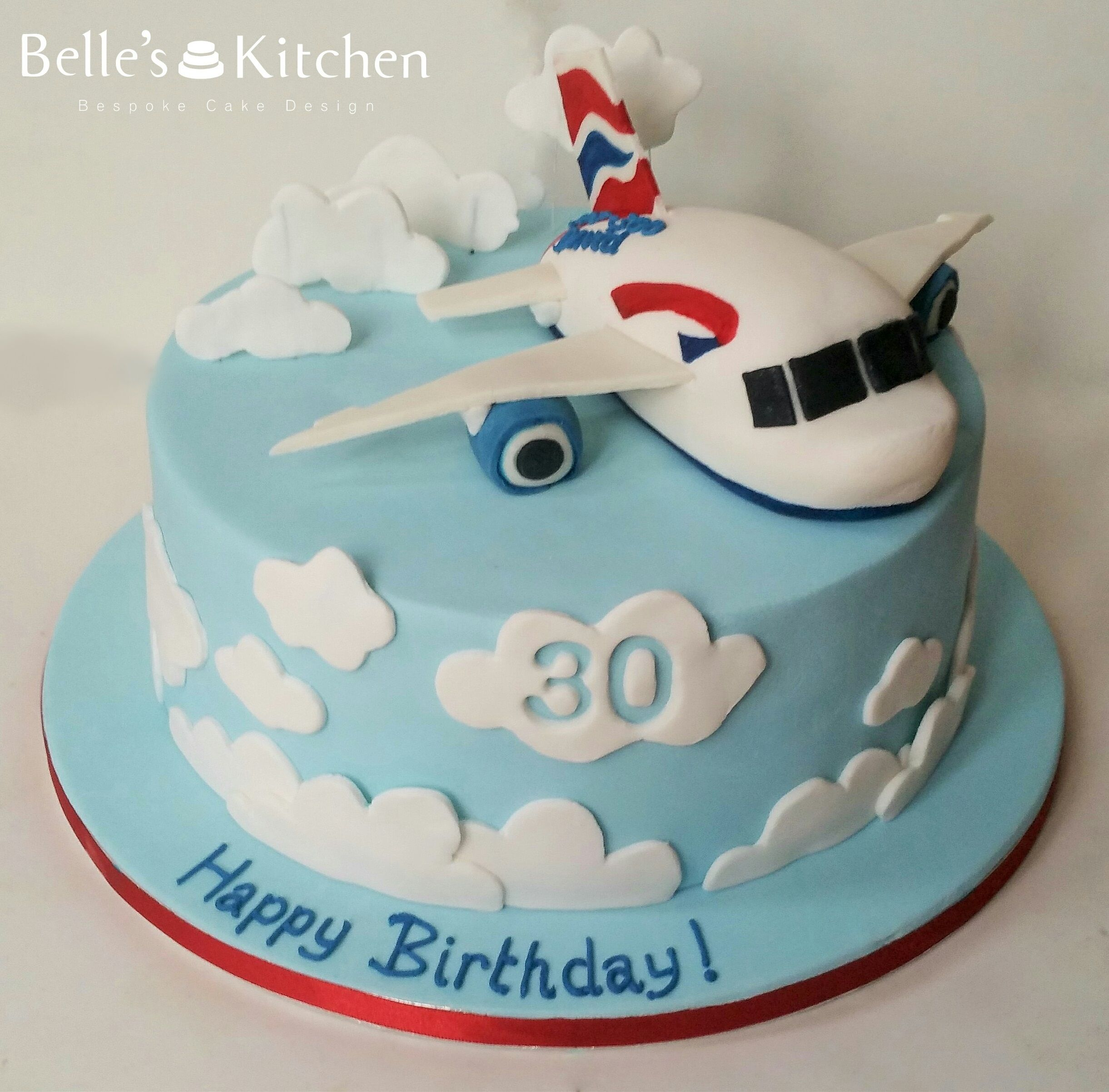 Plane Cake For A Pilot Turning 30