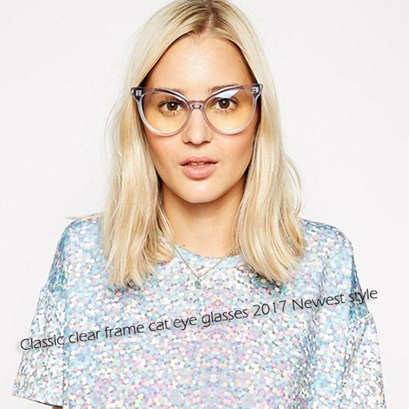 Royal girl hot new trasparente cat eye glasses donne sexy occhiali ottici di moda clearlens occhiali ss222