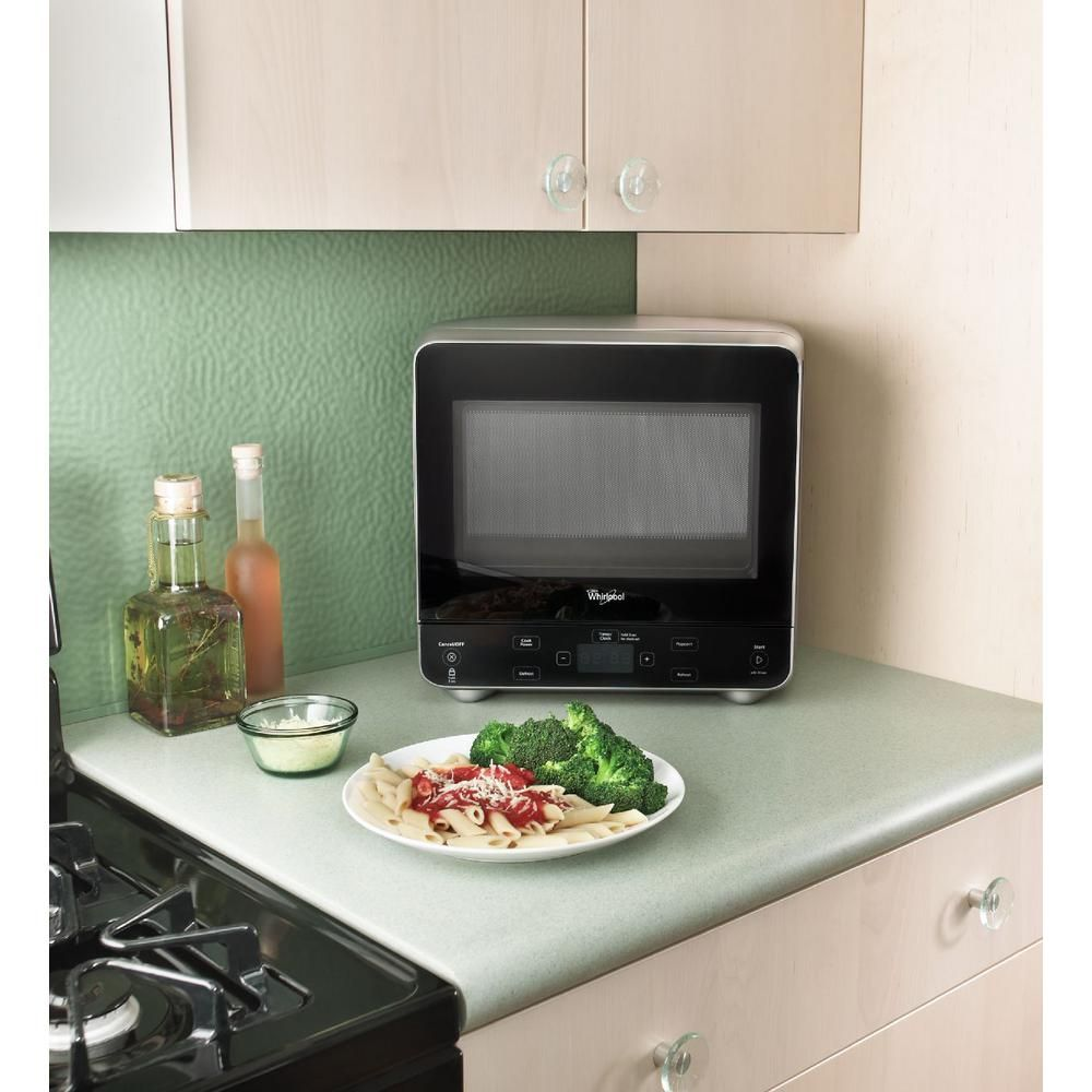 Whirlpool 0 5 Cu Ft Countertop Microwave In Black Best Small