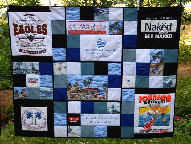 T-shirt Collage Quilt   My Custom Memorial Quilts   Pinterest ... : tshirt quilt ideas - Adamdwight.com