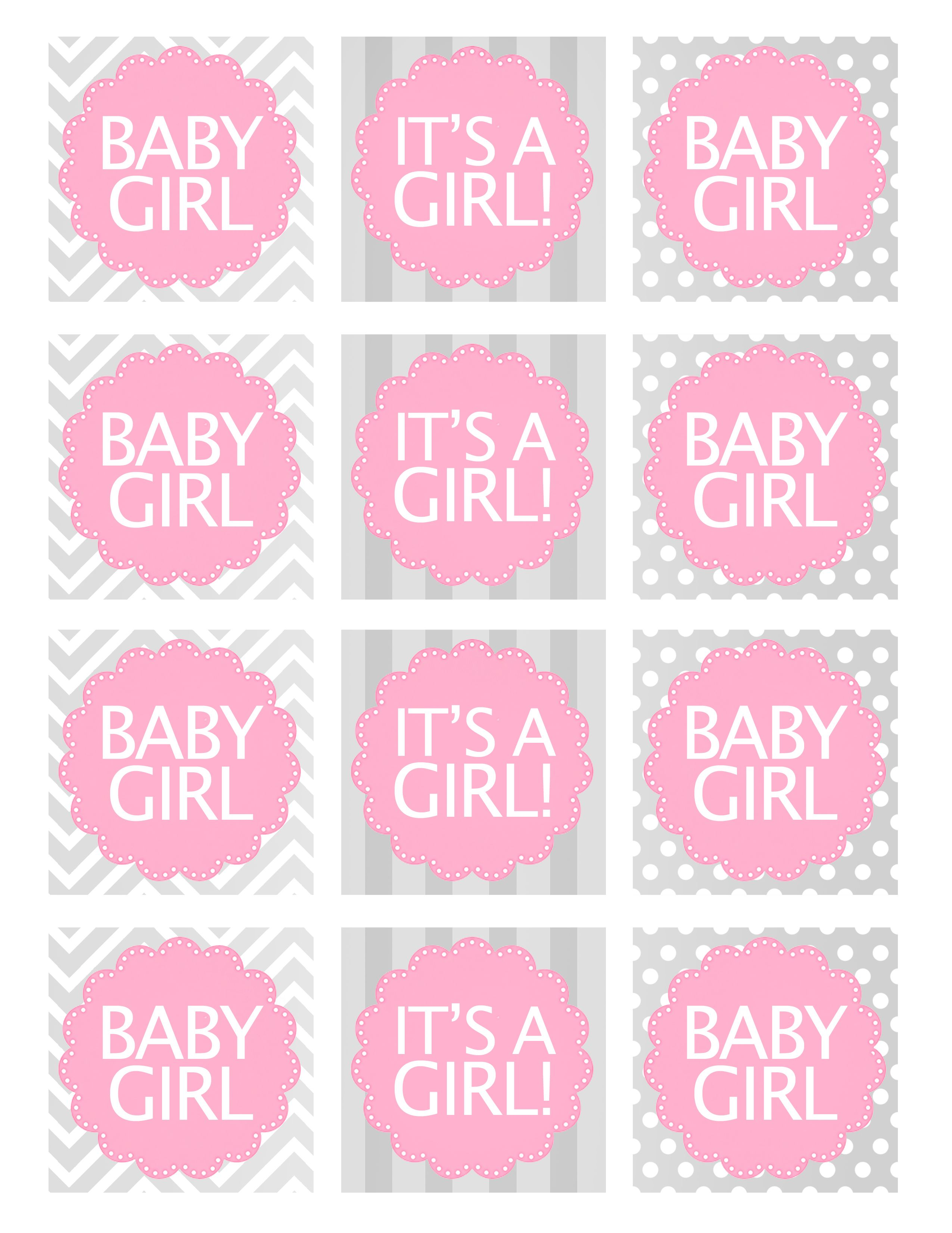 photo about Printable Baby Shower Labels titled Boy or girl Woman Shower Totally free Printables Simply Print It No cost kid