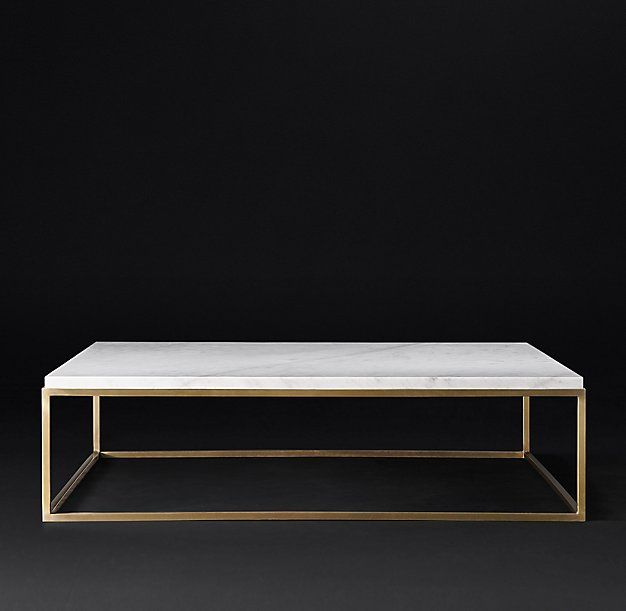 "White Marble Top Coffee Table Rectangle: Nicholas Marble Square Coffee Table 32"" Or 52"" Black Or"