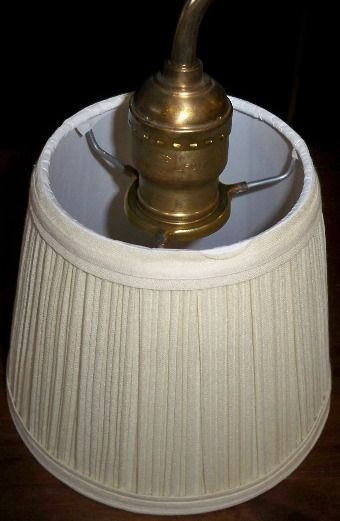 "Slip Uno Fitter Lamp Shade Simple Small Pleated Lamp Uno Shade Hardback 4""x6""x5 For Antique Table Review"