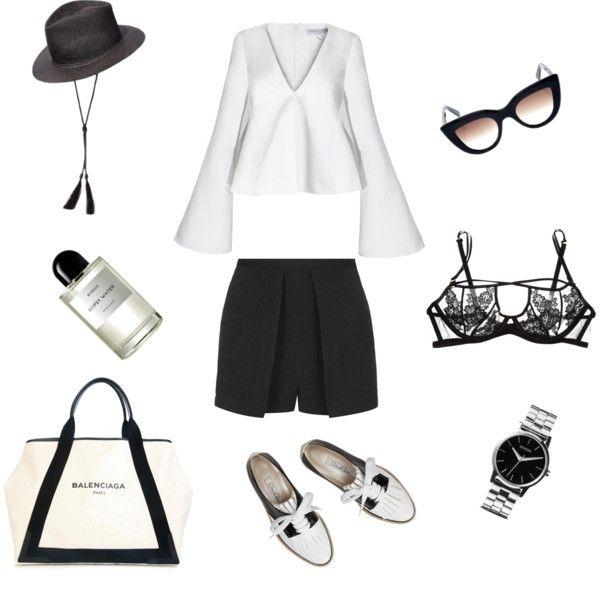 Fashionistas World: Black and White #styling #fashion #moodboard #flatlay