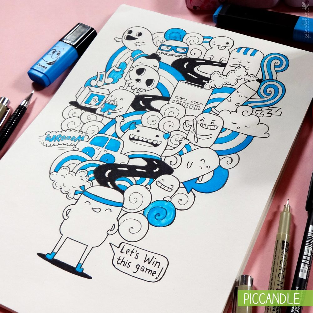 Doodle Let's Win This Game! by