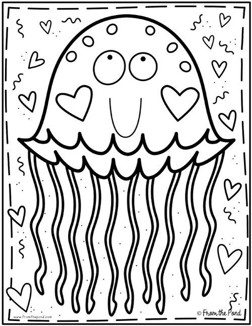 Coloring Club From The Pond Coloring Pages Valentine Coloring Pages Coloring Books