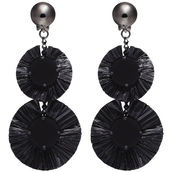 Oscar De La Renta Raffia earrings I3xyLw6eGU