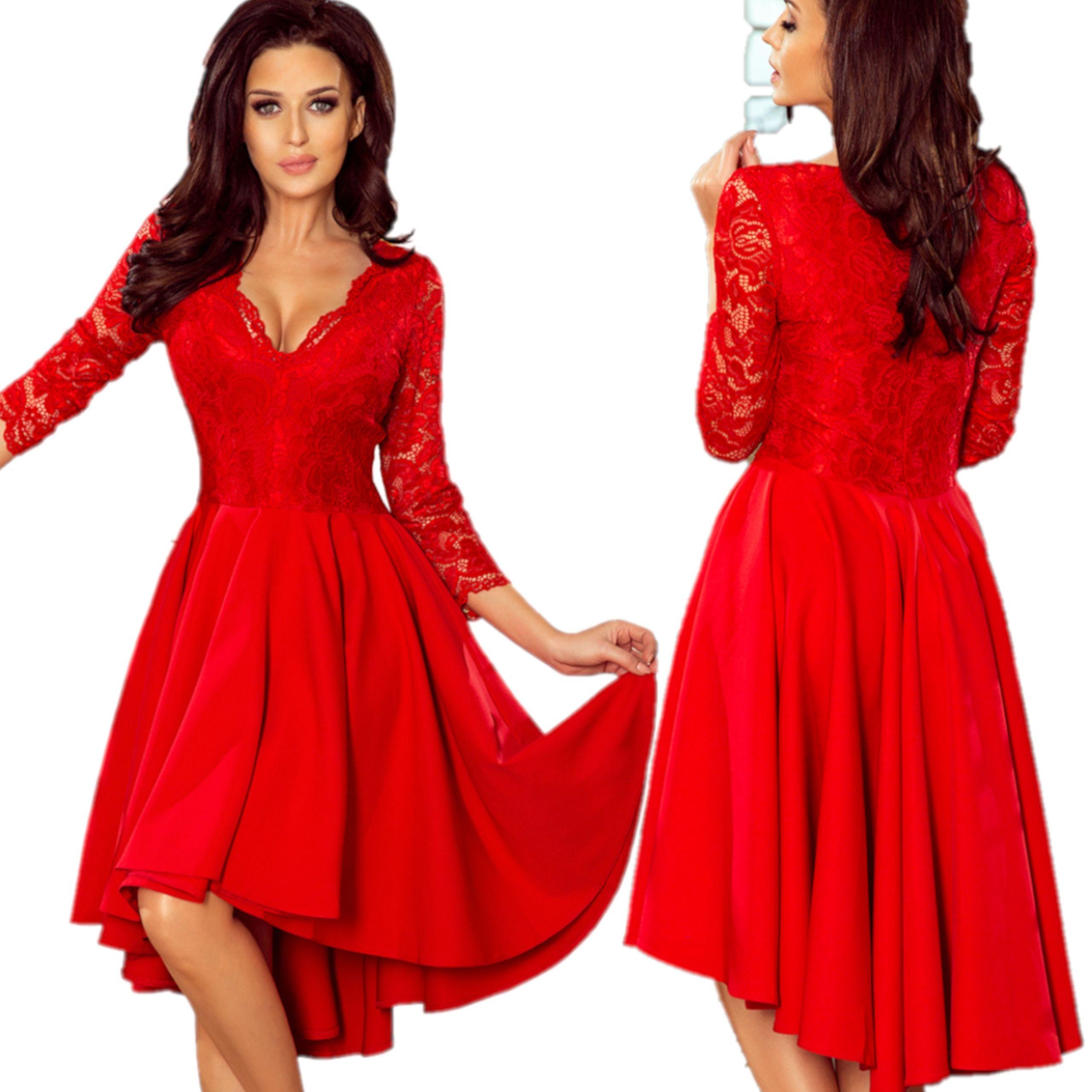4cac47fbb9 Modna rozkloszowana Sukienka wesele 210-6 XXL 44 7879793234 - Allegro.pl