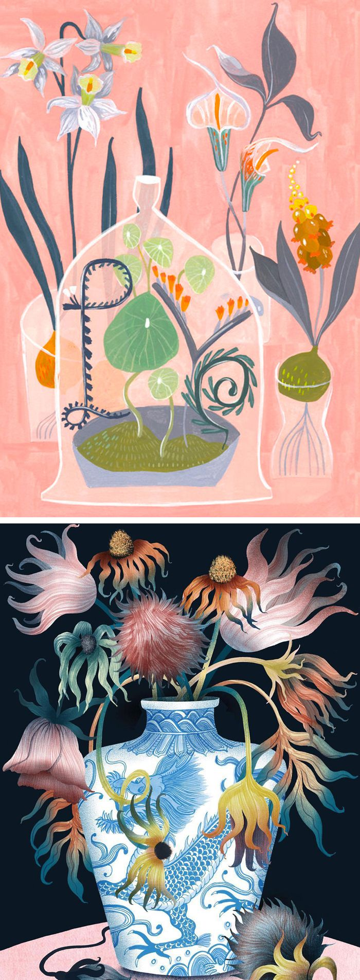Illustrations of vases