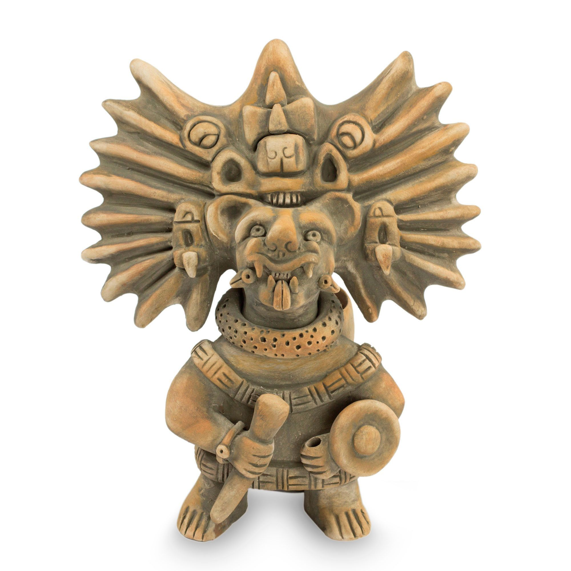 Collectible zapotec ceramic museum replica sculpture products