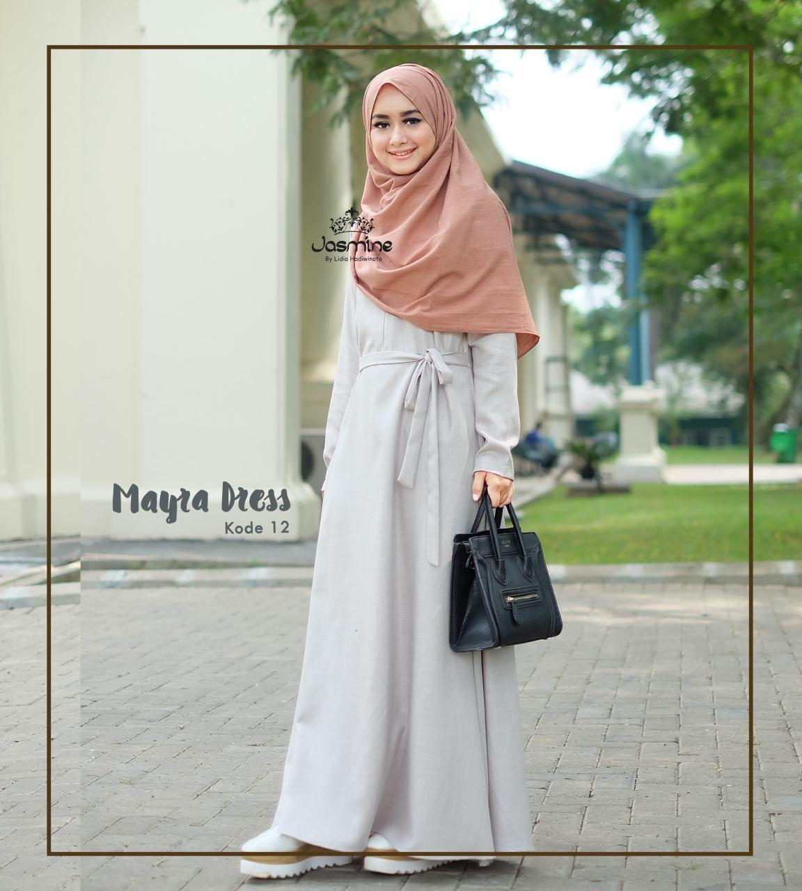 Gamis Jasmine Mayra Dress 12 Baju Wanita Busana Muslim Cantik Katun Hitam Rok 05 Untukmu Yg Syari Dan