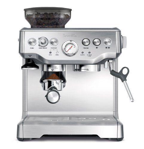 Breville Bes870xl Barista Express Espresso Machine Amazon Kitchen Dining Best Home Espresso Machine Breville Espresso Machine Home Espresso Machine
