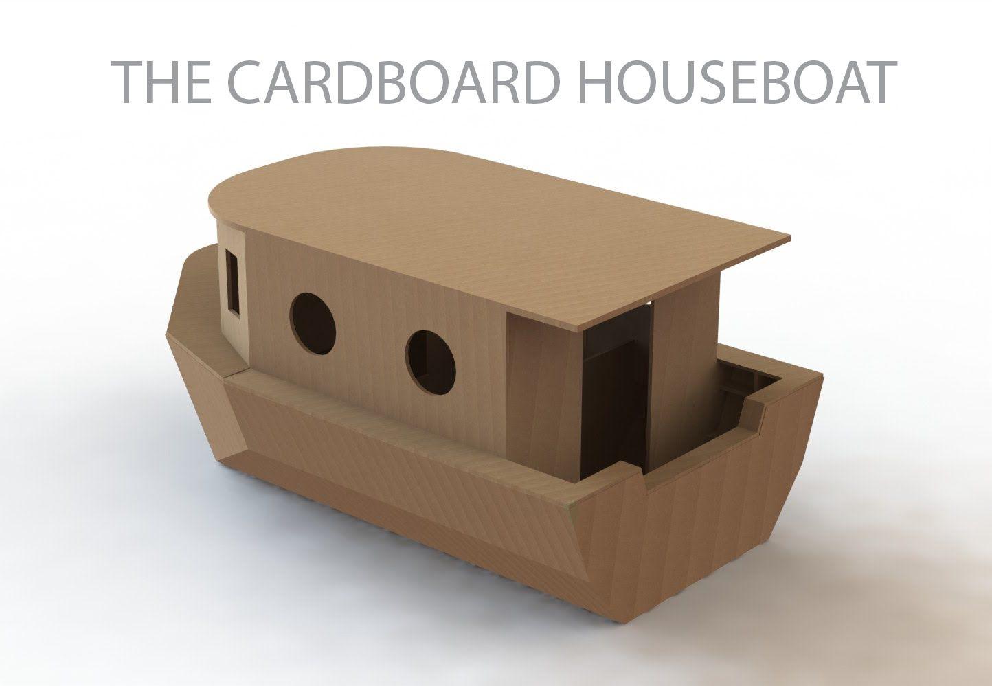 The Cardboard Houseboat